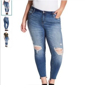STS Blue High Rise Distressed Skinny Ankle Jeans